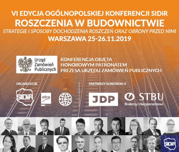 VI edycja Ogólnopolskiej Konferencji SIDiR Roszczenia w budownictwie